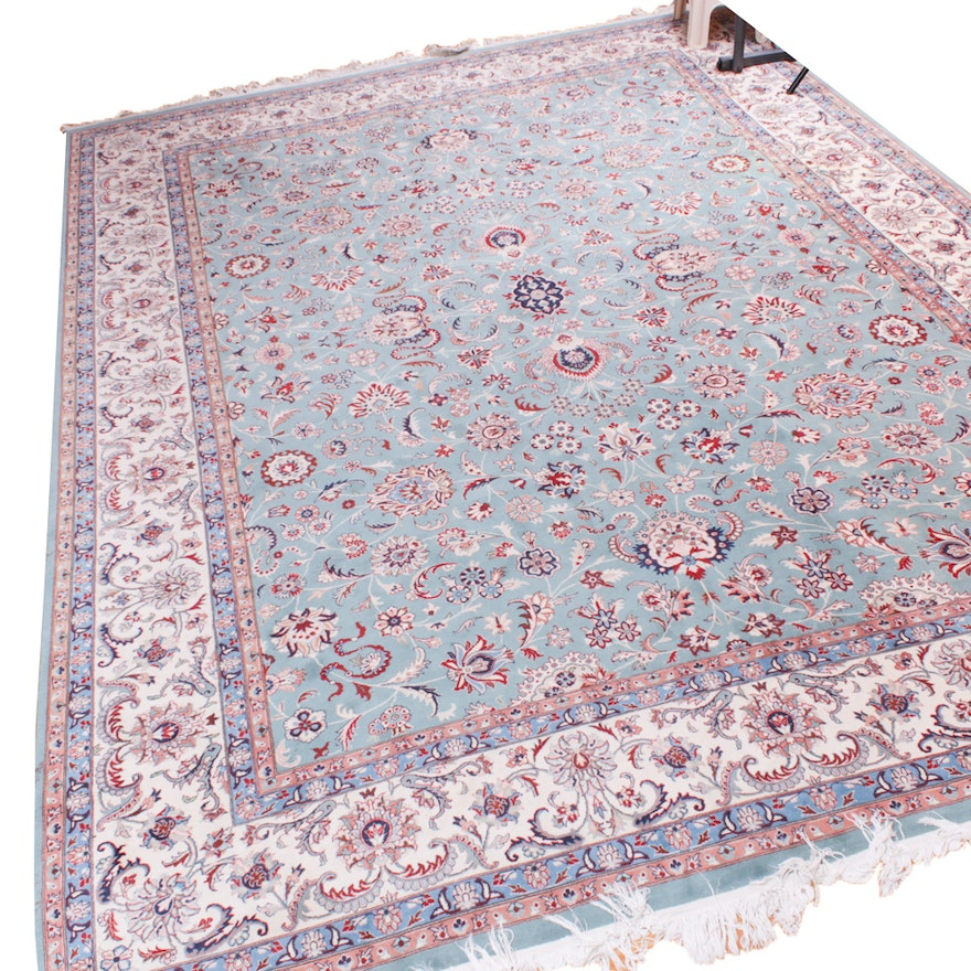 8'11 x 12'9 Hand-Knotted Persian Room-Size Rug