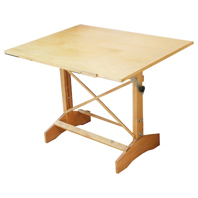 Wood Adjustable Drafting Table