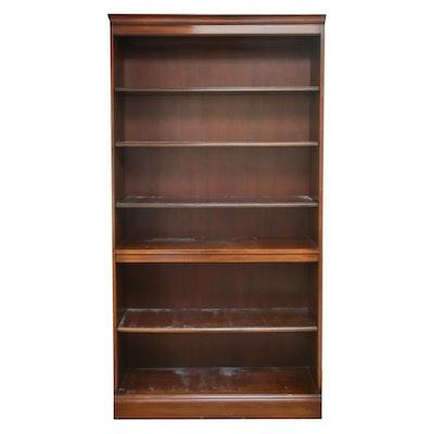 Transitional, Tall Mahogany Bookcase