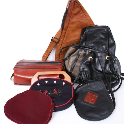 Leather Crossbody, Backpack, and Shoulder Bags, Vintage