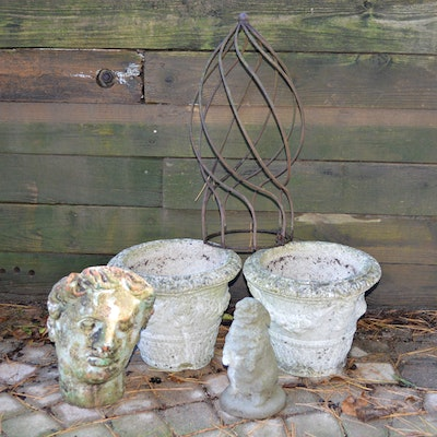 Campania International Bunny Statue and Other Garden Decor