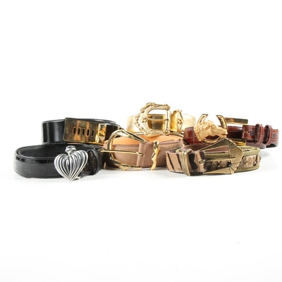 Vicenza Embossed Italian Leather Belts with Other Women's Belts