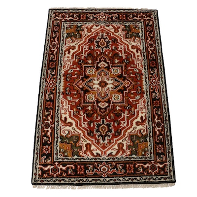 4'0 x 6'3 Hand-Knotted Indo-Persian Heriz Rug