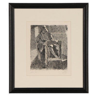 Abstracted Figure Etching, 20th Century