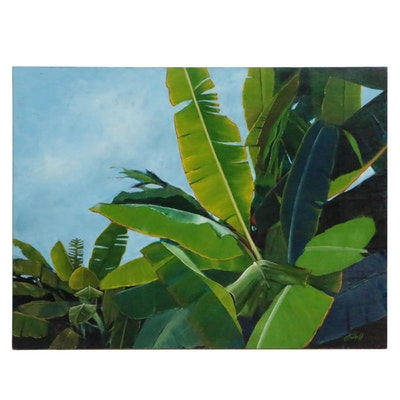 "J.C. Hall Acrylic Painting ""Tropical"""