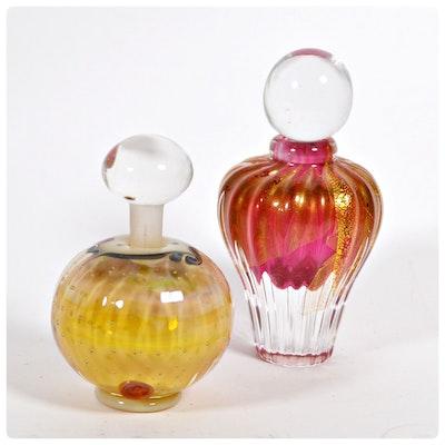 Art Glass Perfume Bottles, Late 20th Century