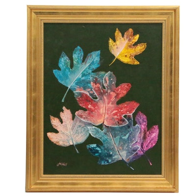 "J.C. Hall Acrylic Painting ""Autumn Leaves"""