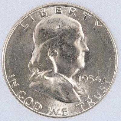 1954-S Silver Franklin Half Dollar