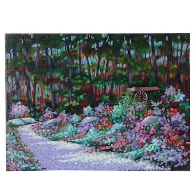 "J.C. Hall Acrylic Painting ""Meadow Flower"""