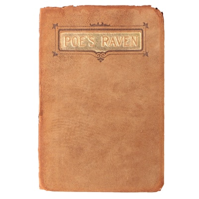 "Edgar Allan Poe's ""The Raven and the Bells"" with Brown Suede Binding, Circa 1910"