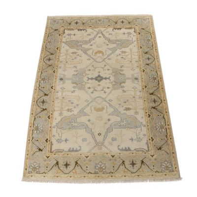 5'1 x 7'9 Hand-Knotted Turkish Oushak Rug