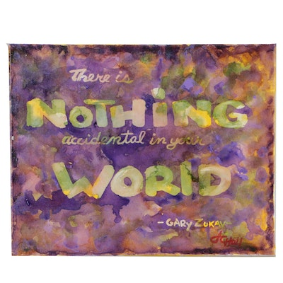 "J.C. Hall Typographic Acrylic Painting ""There's Nothing"""