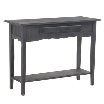 Contemporary Black-Painted Wood Hall Table
