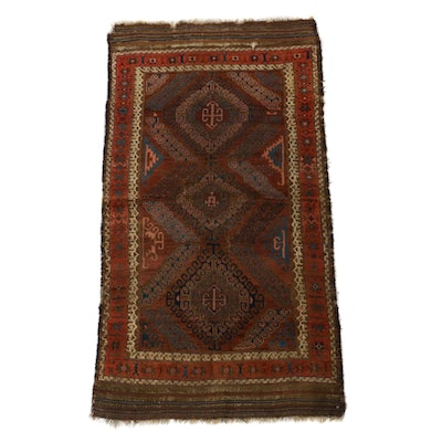 3'2 x 5'9 Hand-Knotted Persian Baluch Rug, 1880s