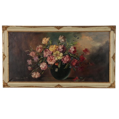 F. Kormendy Floral Still Life Oil Painting