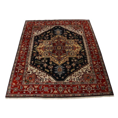 8'0 x 10'0 Hand-Knotted Indo Persian Heriz Serapi Rug