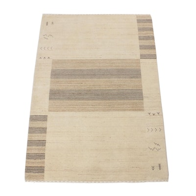 4'2 x 6'0 Hand-Knotted Indo-Persian Gabbeh Rug