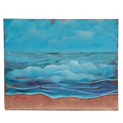 "J.C. Hall Acrylic Painting ""Cape Hatteras"""