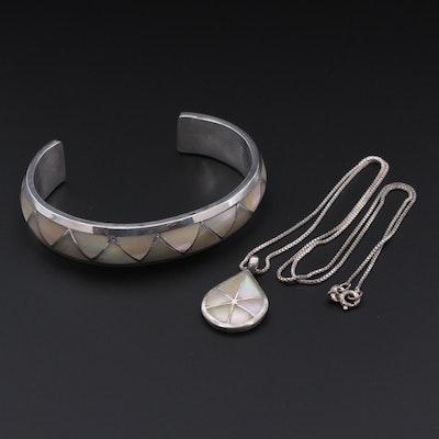 Marcie & Lorrie Kallestewa, Zuni Sterling Silver Mother Of Pearl Jewelry