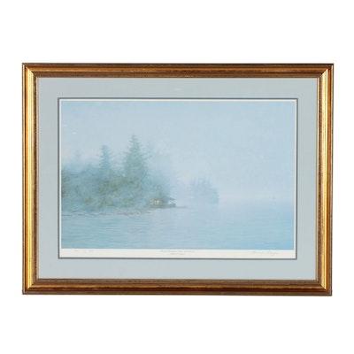 "Michael Ringer Offset Lithograph ""Frederic Remington Studio - 1000 Islands"""