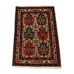 3'4 x 5'2 Hand-Knotted Persian Bakhtiari Rug, 1970s