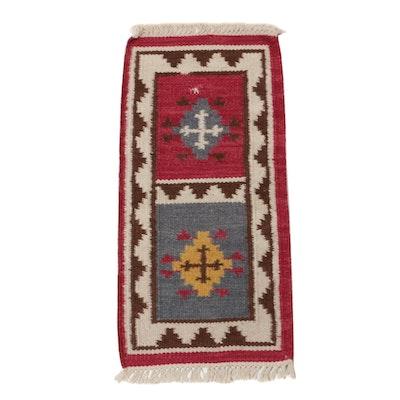 1'9 x 3'9 Hand-Woven Indo-Turkish Kilim Rug