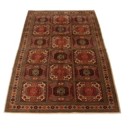 6'7 x 9'9 Hand-Knotted Turkish Kayseri East Turkistan Rug, 1960s