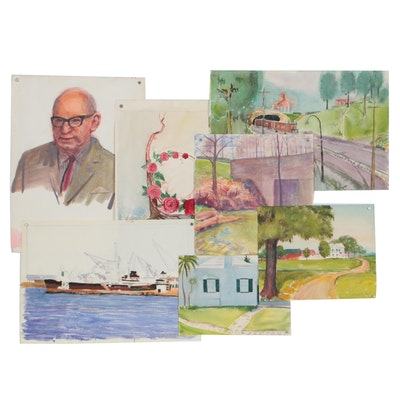 J. Frederick Vogel Watercolor Paintings
