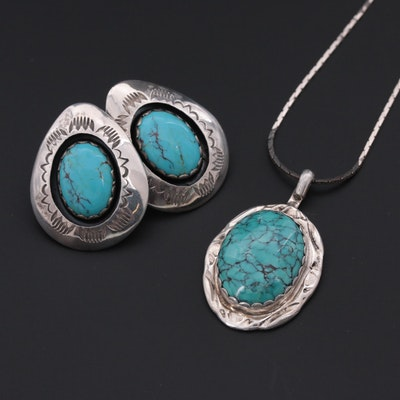 Teddy Goodluck Jr. & Herbert Toledo Navajo Sterling Silver Turquoise Jewelry