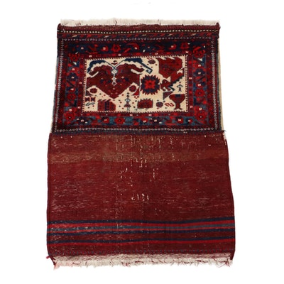 2'3 x 3'2 Hand-Knotted Persian Kurdish Tribal Rug, circa 1920