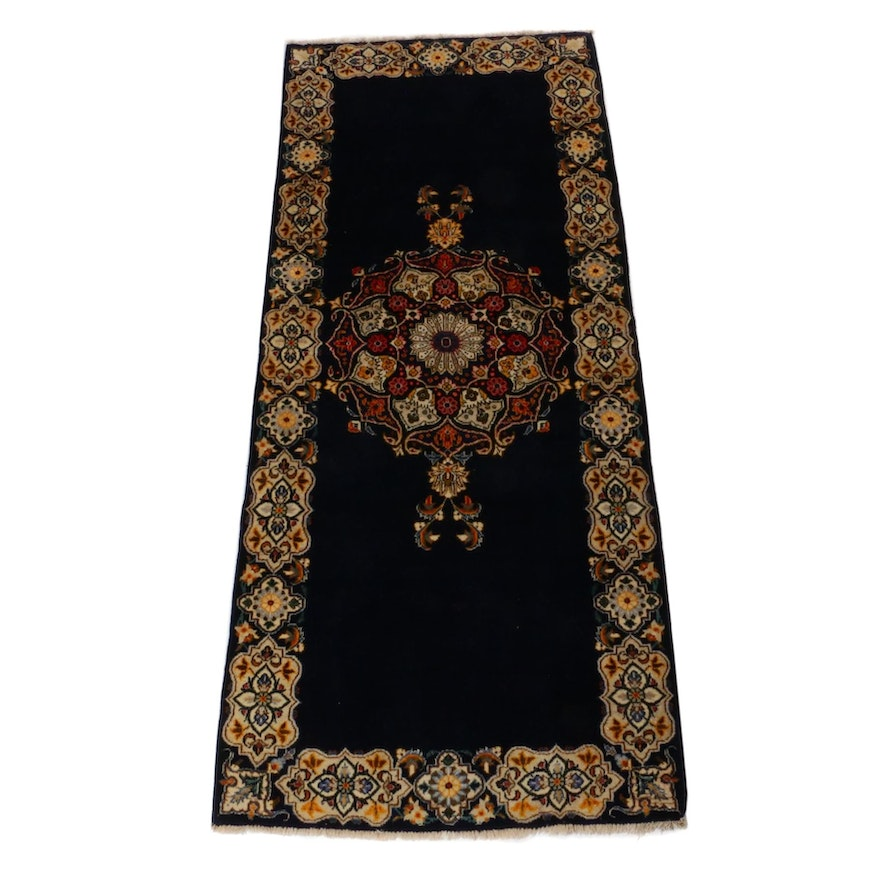 3'5 x 8'4 Hand-Knotted Persian Qum Rug