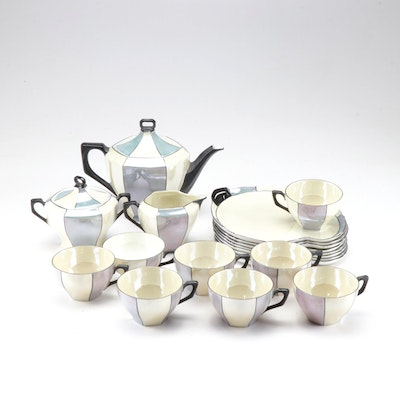 Schönwald Luster Porcelain Tea Set, Art Deco