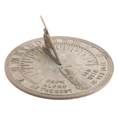Flora & Fauna Cast Brass Sundial, M