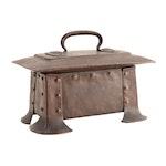 The Craftsman Workshops Hammered Copper Humidor Designed by Gustav Stickley