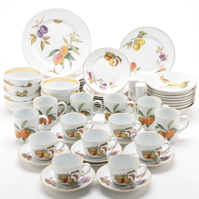 "Royal Worcester ""Evesham Gold"" Porcelain Dinnerware Pieces"