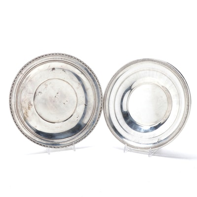 Ellmore Silver Co. and Watrous Sterling Silver Plates, Mid-Century
