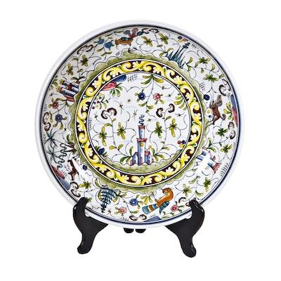 "Williams-Sonoma Hand Painted Portuguese ""Nazari"" Pasta Bowl"