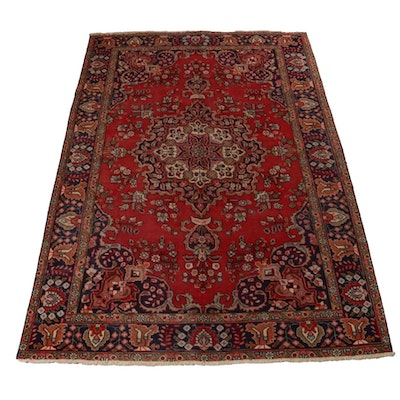 6'5 x 9'7 Hand-Knotted Indo-Persian Heriz Rug
