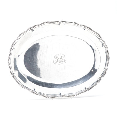 American Sterling Silver Serving Platter,  Early to Mid 20th Century