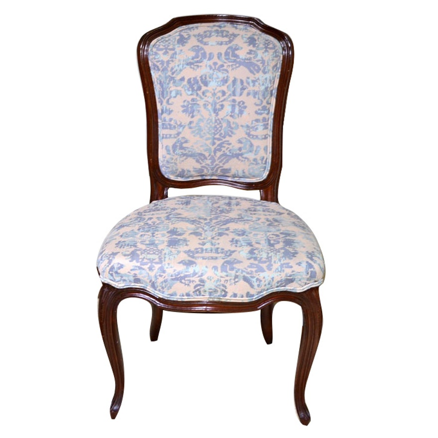 Louis XV Style Cartouche Back Mahogany Fauteuil, Late 19th/Early 20th Century