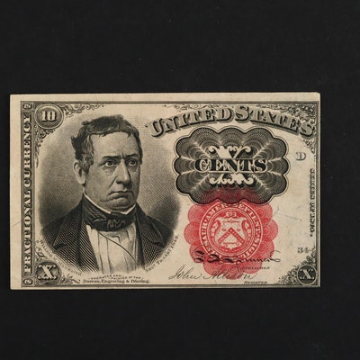 Series of 1874 U.S. Ten Cents Fractional Currency Note