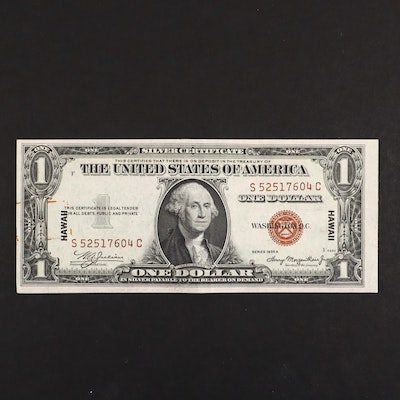 1935-A Brown Seal Hawaii $1 Silver Certificate