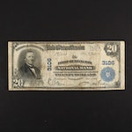 Series of 1902 U.S. $20 National Currency Note