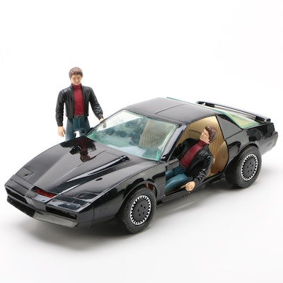 Kenner Night Rider TV Series Action Figures with Talking Car, 1983