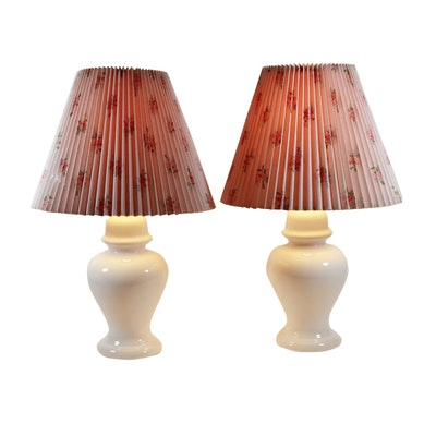 Laura Ashley Ceramic Table Lamps, Late 20th Century