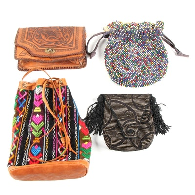 Hand-Tooled Leather, Beaded and More Purses with L. O'Neill Design Crossbody Bag