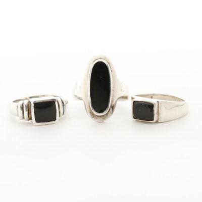Sterling Silver Black Onyx Rings