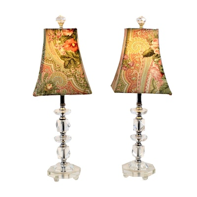 Clear Acrylic Table Lamps, Late 20th Century