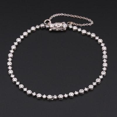14K White Gold 1.96 CTW Diamond Tennis Bracelet