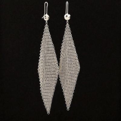 Vintage Elsa Peretti for Tiffany & Co. Sterling Silver Mesh Earrings